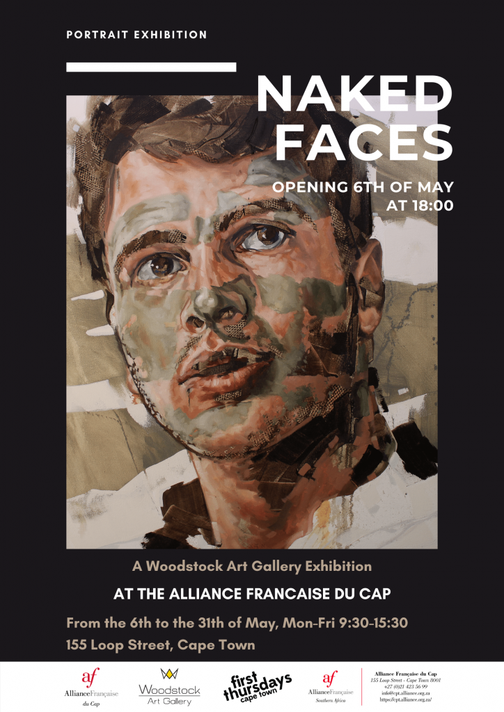 Poster Exhibition Naked Faces Cape Town